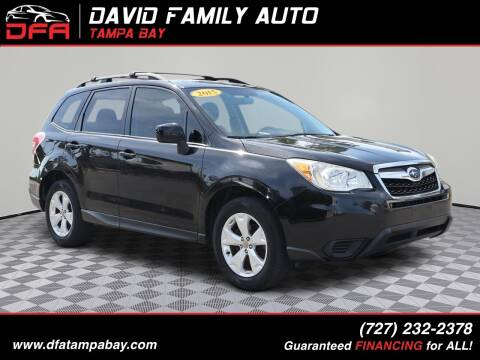 2015 Subaru Forester for sale at David Family Auto in New Port Richey FL
