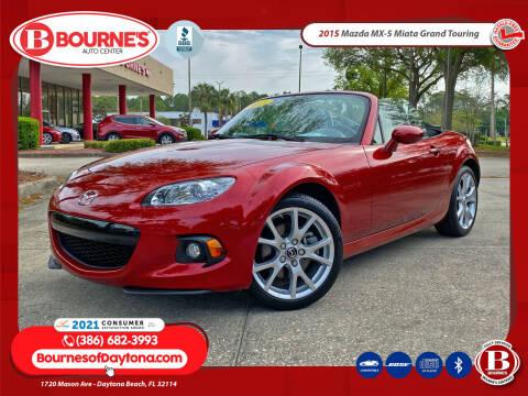 2015 Mazda MX-5 Miata for sale at Bourne's Auto Center in Daytona Beach FL