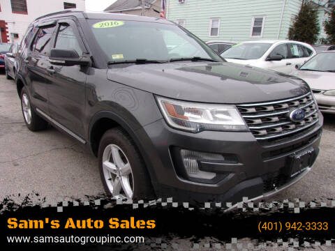2016 Ford Explorer for sale at Sam's Auto Sales in Cranston RI