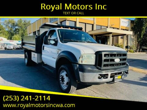 2006 Ford F-450 Super Duty for sale at Royal Motors Inc in Kent WA