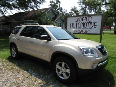 2008 GMC Acadia for sale at Under 10 Automotive in Robertsdale AL