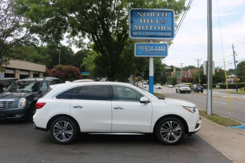 2018 Acura MDX for sale at North Hills Motors in Raleigh NC