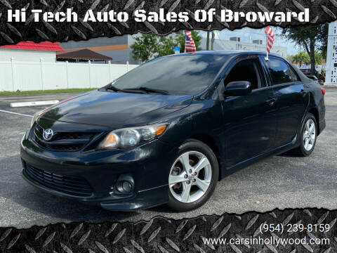 2013 Toyota Corolla for sale at Hi Tech Auto Sales Of Broward in Hollywood FL