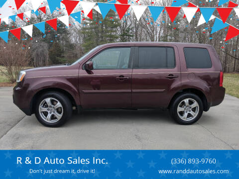 2015 Honda Pilot for sale at R & D Auto Sales Inc. in Lexington NC