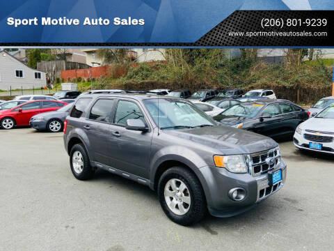 2012 Ford Escape for sale at Sport Motive Auto Sales in Seattle WA