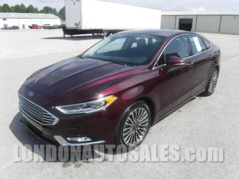 2018 Ford Fusion for sale at London Auto Sales LLC in London KY