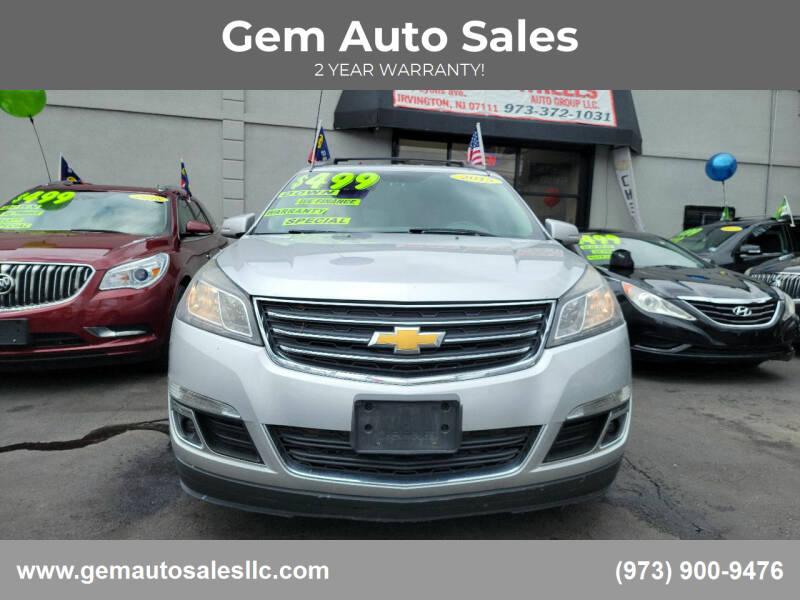 2015 Chevrolet Traverse for sale at Gem Auto Sales in Irvington NJ