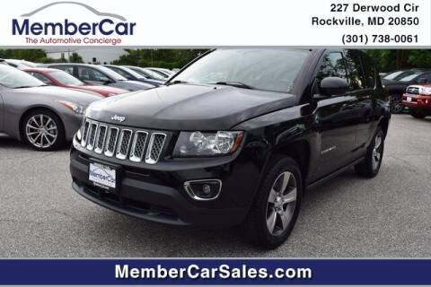 2016 Jeep Compass for sale at MemberCar in Rockville MD