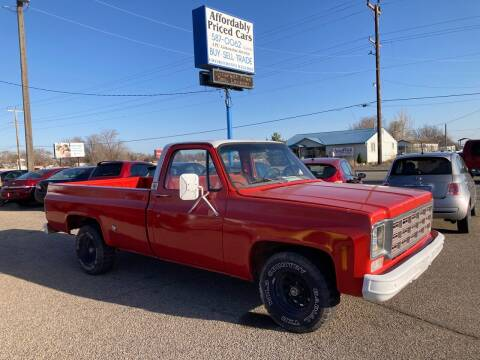 1978 Chevrolet C/K 10 Series for sale at AFFORDABLY PRICED CARS LLC in Mountain Home ID