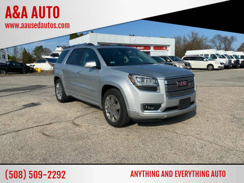 2014 GMC Acadia for sale at A&A AUTO in Fairhaven MA