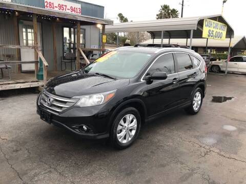 2012 Honda CR-V for sale at Texas 1 Auto Finance in Kemah TX