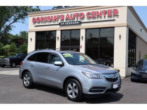 2016 Acura MDX for sale at DORMANS AUTO CENTER OF SEEKONK in Seekonk MA
