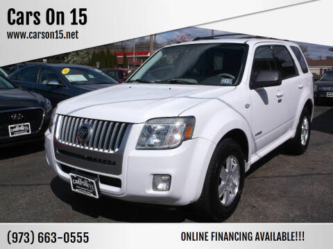 2008 Mercury Mariner for sale at Cars On 15 in Lake Hopatcong NJ