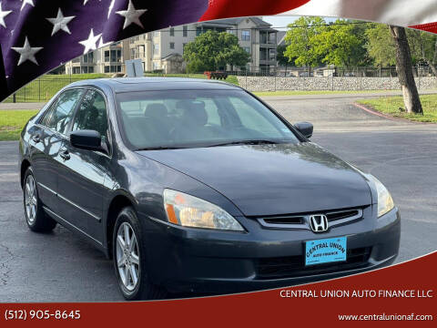 2004 Honda Accord for sale at Central Union Auto Finance LLC in Austin TX