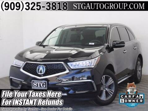 2019 Acura MDX for sale at STG Auto Group in Montclair CA