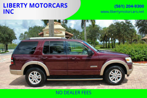 2007 Ford Explorer for sale at LIBERTY MOTORCARS INC in Royal Palm Beach FL