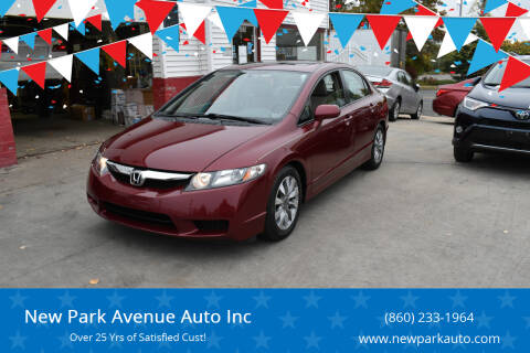 2010 Honda Civic for sale at New Park Avenue Auto Inc in Hartford CT