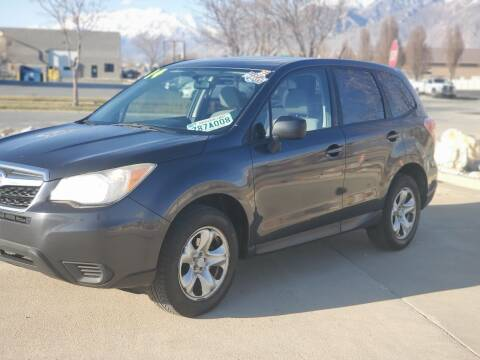 2014 Subaru Forester for sale at FRESH TREAD AUTO LLC in Springville UT