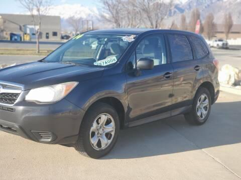 2014 Subaru Forester for sale at FRESH TREAD AUTO LLC in Springville UT