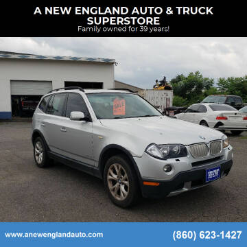 2009 BMW X3 for sale at A NEW ENGLAND AUTO & TRUCK SUPERSTORE in East Windsor CT