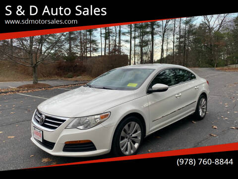 2012 Volkswagen CC for sale at S & D Auto Sales in Maynard MA