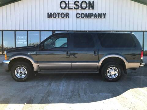 2001 Ford Excursion for sale at Olson Motor Company in Morris MN