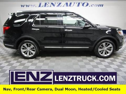 2018 Ford Explorer for sale at LENZ TRUCK CENTER in Fond Du Lac WI