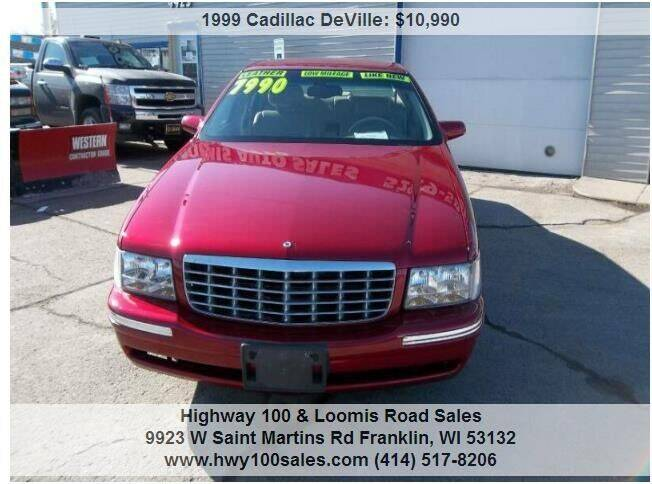 1999 Cadillac DeVille for sale at Highway 100 & Loomis Road Sales in Franklin WI