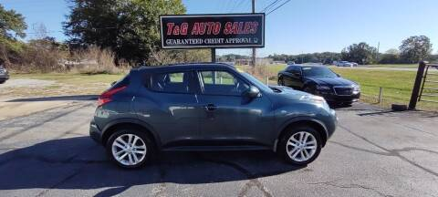 2013 Nissan JUKE for sale at T & G Auto Sales in Florence AL