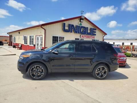"""2015 Ford Explorer for sale at UNIQUE AUTOMOTIVE """"BE UNIQUE"""" in Garden City KS"""