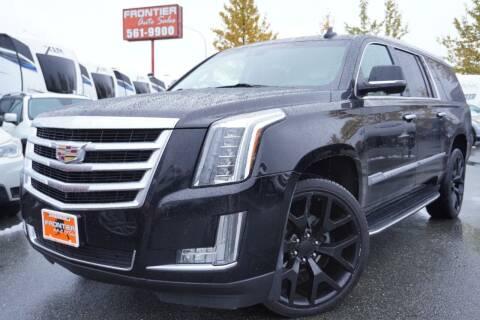 2016 Cadillac Escalade ESV for sale at Frontier Auto & RV Sales in Anchorage AK