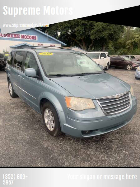 2010 Chrysler Town and Country for sale at Supreme Motors in Tavares FL