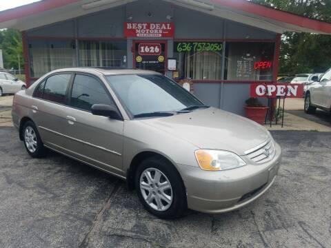 2003 Honda Civic for sale at Best Deal Motors in Saint Charles MO