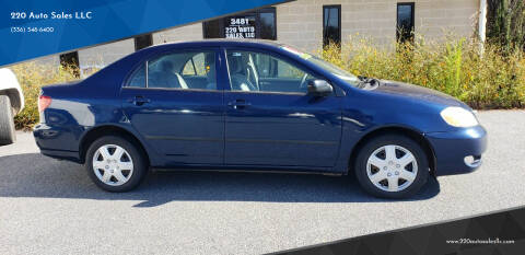 2008 Toyota Corolla for sale at 220 Auto Sales LLC in Madison NC