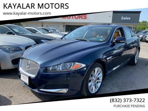 2013 Jaguar XF for sale at KAYALAR MOTORS in Houston TX