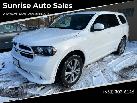 2013 Dodge Durango for sale at Sunrise Auto Sales in Stacy MN