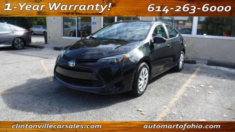 2018 Toyota Corolla for sale at Clintonville Car Sales - AutoMart of Ohio in Columbus OH