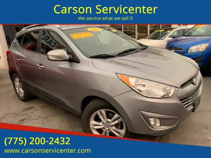 2013 Hyundai Tucson for sale at Carson Servicenter in Carson City NV
