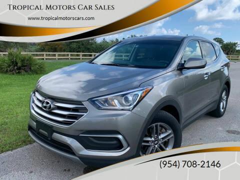 2018 Hyundai Santa Fe Sport for sale at Tropical Motors Car Sales in Deerfield Beach FL