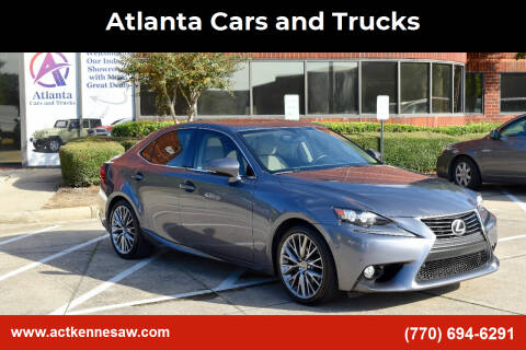 2014 Lexus IS 250 for sale at Atlanta Cars and Trucks in Kennesaw GA