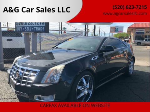 2012 Cadillac CTS for sale at A&G Car Sales  LLC in Tucson AZ