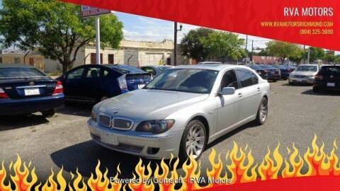 2006 BMW 7 Series for sale at RVA MOTORS in Richmond VA