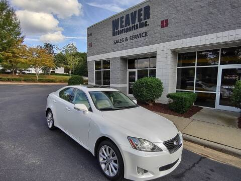 2010 Lexus IS 250 for sale at Weaver Motorsports Inc in Cary NC