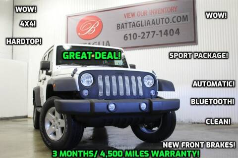 2014 Jeep Wrangler Unlimited for sale at Battaglia Auto Sales in Plymouth Meeting PA