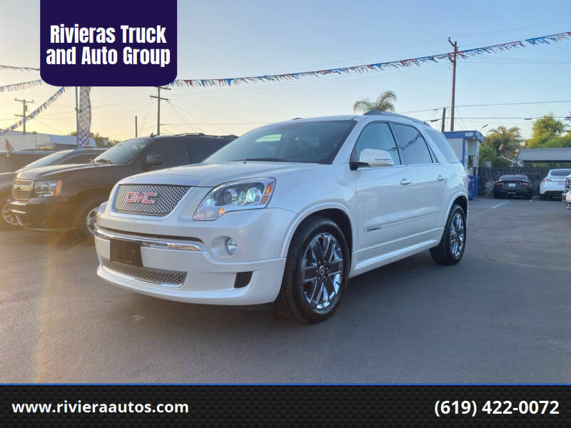 2012 GMC Acadia for sale at Rivieras Truck and Auto Group in Chula Vista CA