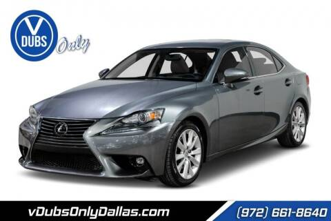 2015 Lexus IS 250 for sale at VDUBS ONLY in Dallas TX