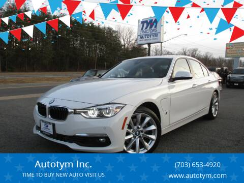 2017 BMW 3 Series for sale at AUTOTYM INC in Fredericksburg VA