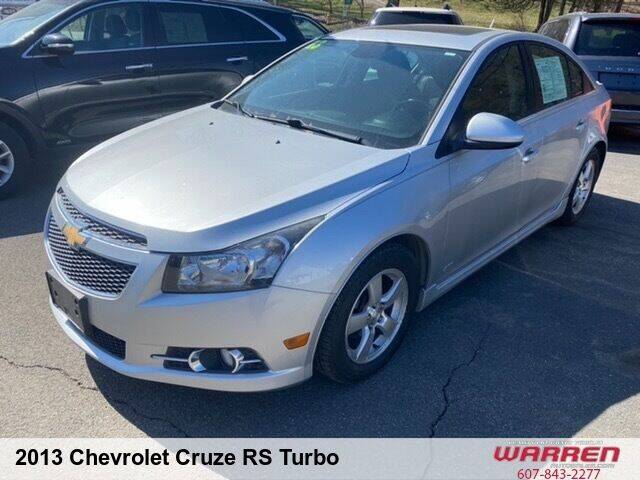 2013 Chevrolet Cruze for sale at Warren Auto Sales in Oxford NY