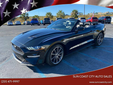 2019 Ford Mustang for sale at Sun Coast City Auto Sales in Mobile AL