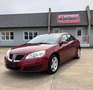 2010 Pontiac G6 for sale at Stephen Motor Sales LLC in Caldwell OH